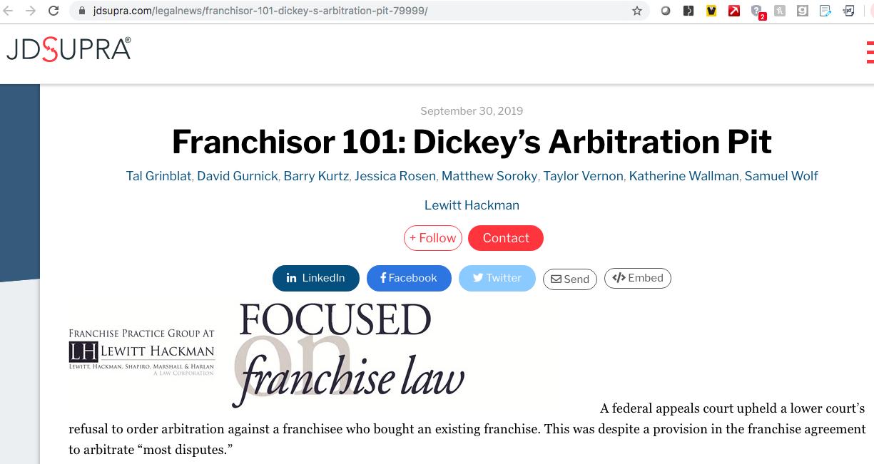 Screenshot of 'Franchisor 101' title