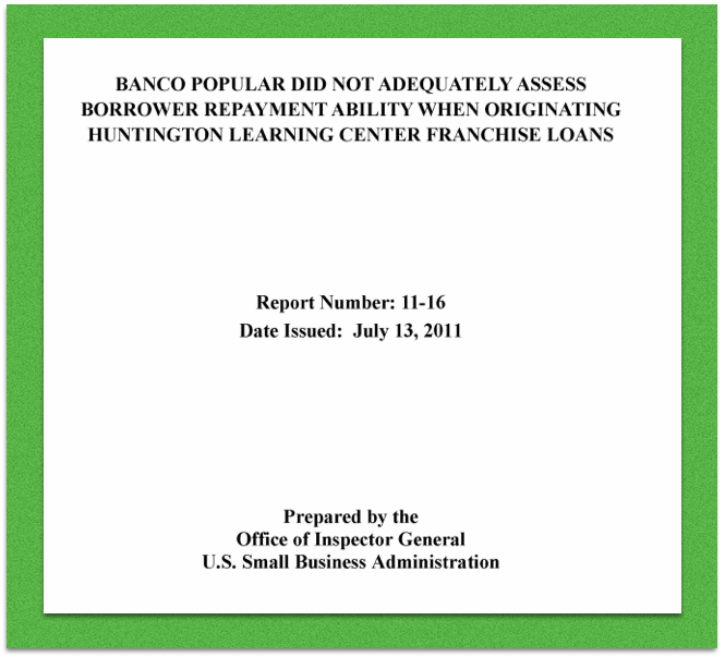 Screenshot of cover page of audit report