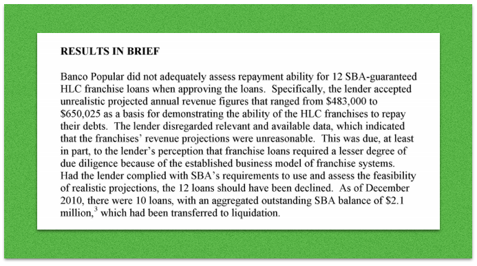 Screenshot of first paragraph of 'results in brief' from audit